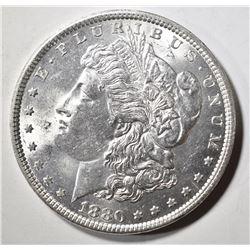 1880 MORGAN DOLLAR, CH BU+