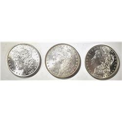 1880-S, 81 & 82 CH BU MORGAN DOLLARS