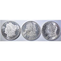 3-1884-O CH BU MORGAN DOLLARS