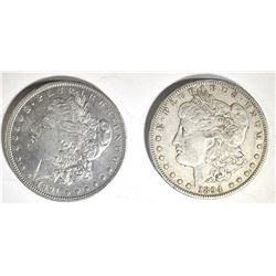 1891-O AU & 1894-O XF MORGAN DOLLARS
