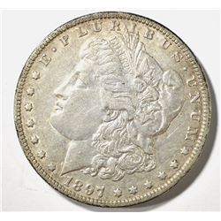 1897-O MORGAN DOLLAR, AU+