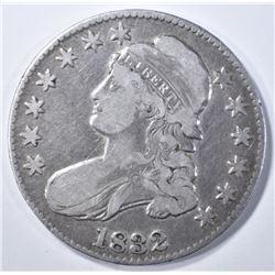 1832 BUST HALF DOLLAR, VF/XF