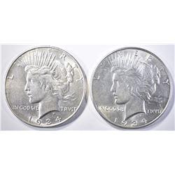 1934-P,D PEACE DOLLARS  AU/BU