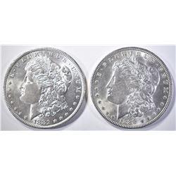 1881-O & 1888 MORGAN DOLLARS   BU