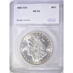 1882-O/O MORGAN DOLLAR SEGS CH BU
