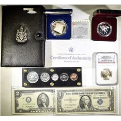 MIXED LOT WITH COINS & CURRENCY