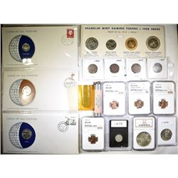 MIXED LOT OF US AND FOREIGN COINS