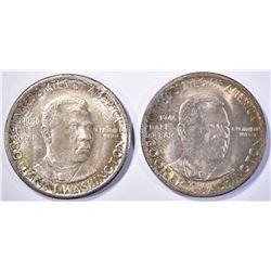 1946 & 1946-D BOOKER T WASHINGTON HALF DOLLARS