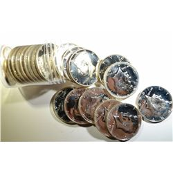 ROLL OF MIXED DATE PROOF 40% SILVER KENNEDY HALVES