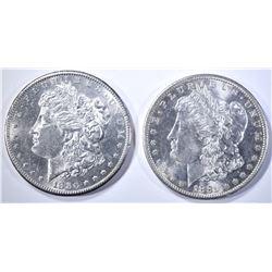 1880-S & 1881-S CH BU MORGAN DOLLARS
