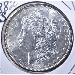 1882-S MORGAN DOLLAR, GEM BU