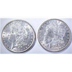 1888 & 1889 CH BU MORGAN DOLLARS