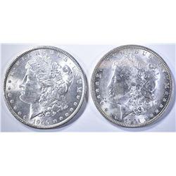 1900-O & 1901-O CH BU MORGAN DOLLARS