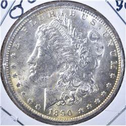 1890-O MORGAN DOLLAR, GEM BU