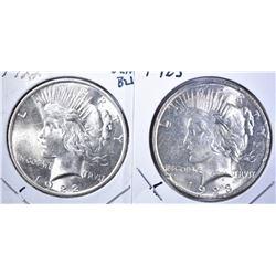 1922 & 1923 GEM BU PEACE DOLLARS