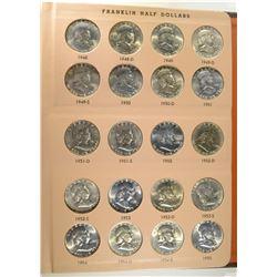 GEM BU FRANKLIN HALF DOLLAR SET 1948-63