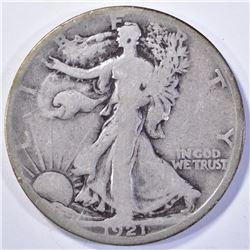 1921-S WALKING LIBERTY HALF DOLLAR  VG