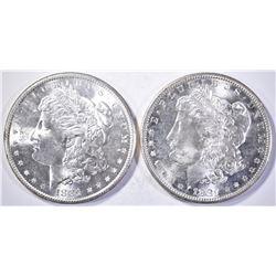 2-1881-S MORGAN DOLLARS, CH BU+ FLASHY