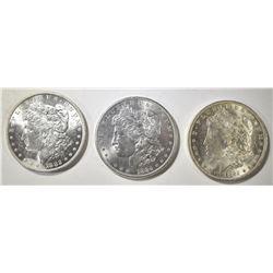 1882-O, 84 & 84-O CH BU MORGAN DOLLARS