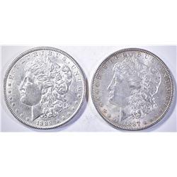 1887 & 89 CH BU MORGAN DOLLARS