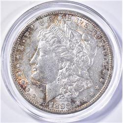 1898-S MORGAN DOLLAR, CH BU KEY DATE NICE!