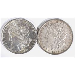 1889 BU & 1882 AU MORGAN DOLLARS