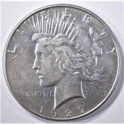 1927-S PEACE DOLLAR  AU/BU