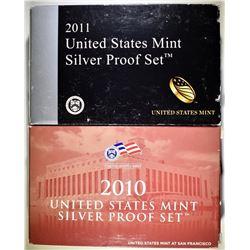 2010 & 2011 SILVER PROOF SETS IN OGP