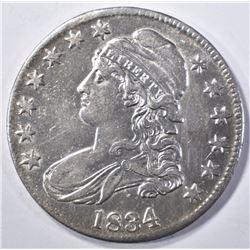 1834 BUST HALF AU/BU NICE