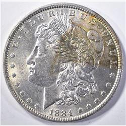 1884 MORGAN DOLLAR CH BU COLOR