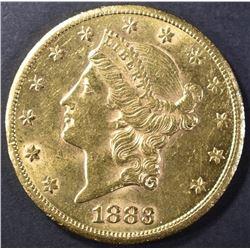 1883-CC $20 GOLD BU SCARCE
