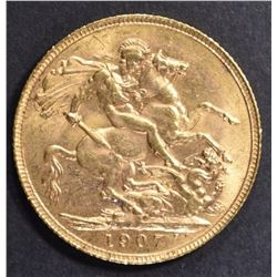 1907 GREAT BRITAIN GOLD SOVEREIGN