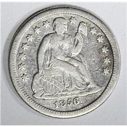 1856-O SEATED DIME, VF+