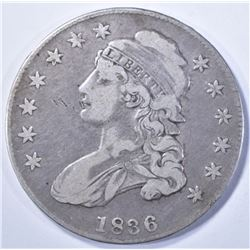 1836 FINE CAPPED BUST HALF DOLLAR
