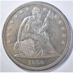1859-S SEATED DOLLAR, AU./BU RARE,