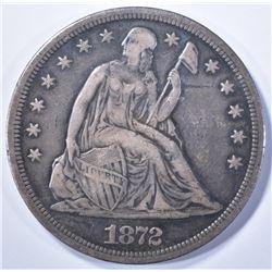 1872-S SEATED DOLLAR, AU KEY DATE