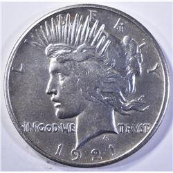1921 PEACE DOLLAR, CH BU NICE!