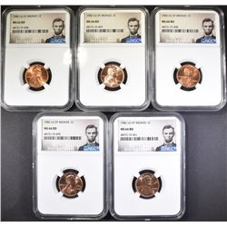 5-1982 LG DATE BRONZE LINCOLN CENTS NGC MS-66 RD