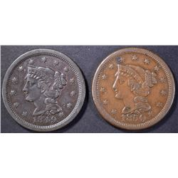 1849 & 50 LARGE CENTS, XF