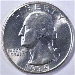 1939-S WASHINGTON QUARTER GEM BU