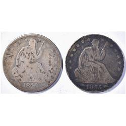 1846-O, 55-O ARROWS SEATED LIBERTY HALF DOLLARS