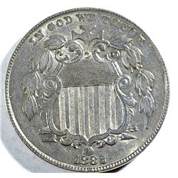 1882 SHIELD NICKEL, AU
