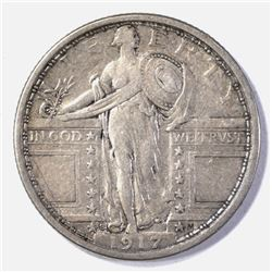1917-S TYPE 1 STANDING LIBERTY QUARTER  XF