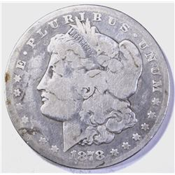 1878-CC  MORGAN DOLLAR, AG/GOOD