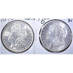 1890 CH BU & 1902-O GEM BU MORGAN DOLLARS
