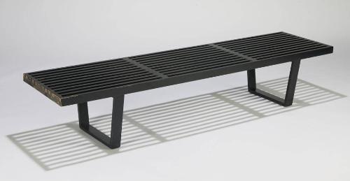 Excellent George Nelson Slat Bench Black Theyellowbook Wood Chair Design Ideas Theyellowbookinfo
