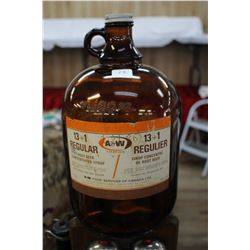 A & W Syrup Bottle - 1 Gallon