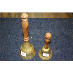 2 Small Brass Bells