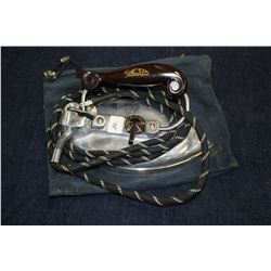1950's Marconi Feather line Folding Travel Iron w/Travel Bag