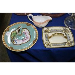 2 Noritaki Dishes w/Handles & a Limoges Creamer